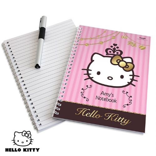 Personalised Hello Kitty Chic Notebook